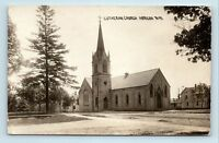 Horicon, WI - EARLY 1900s STREET SCENE OF LUTHERAN CHURCH - RPPC - S5