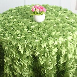 Rose Petal Tablecloth Wedding Party Banquet Birthday Background Rosette Round