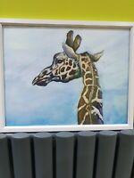 ORIGINAL new signed watercolour ART PAINTING  of Giraffe