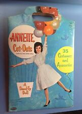 1962 Annette Cut-Outs Paper Doll Set Walt Disney Edition