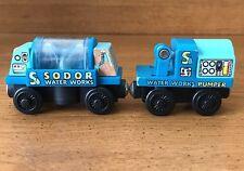 Thomas & Friends Wooden Railway SODOR WATER WORKS TANKER CAR & WATER PUMPER