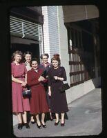 1940s  amateur Kodachrome photo slide Ladies Fashion dress  San Francisco Ca