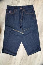 Hübsch jeans Denim Logo Weiß Blau Rot Lacoste Größe W30 wie Neu