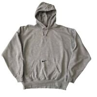 Nike Team Vintage Centre Swoosh Hoodie Size Medium men's grey Sweatshirt jumper