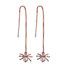 Korean Style Women Drop Long Chain Hook Threader Dangle Earring Ear Stud Jewelry