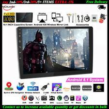 10''2 Din GPS Android Car Radio Airplay+Camera Touch iOS Mirror Link BT FM Wifi