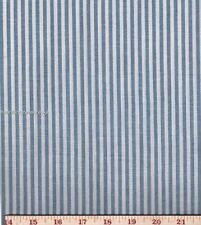 Dunroven House H-860 Homespun Chambray Blue Striped Fabric 1/2 Yd Cut  NEW