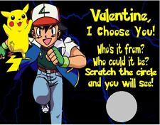 Pokemon Kids Valentine's Day Scratch Off Cards Favors Personalized