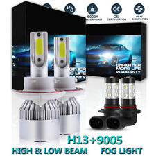 H13 9008 LED Headlight 9145 9140 Fog Lights Combo Kit For 2004-2014 Ford F-150