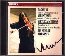 Viktoria MULLOVA Signed PAGANINI Violin Concerto No.1 VIEUXTEMPS 5 MARRINER CD