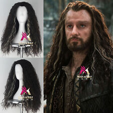 The Hobbit Thorin Oakenshie Men Long Curly Movie Anime Cosplay Halloween Wig