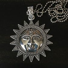 GYPSY TRIBAL BOHO HIPPIE PEACE CELESTIAL SUN MOON CHARM PENDANT NECKLACE JEWELRY