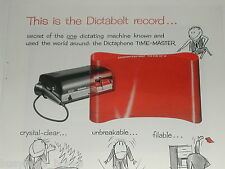 1955 DICTAPHONE advertisement for Time-Master dictating machine, red Dictabelt