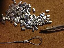 20x ALLUMINIO OVALE puntali per 0.8 mm una fune in acciaio inox Rigging