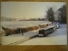 POSTCARD SHROPSHIRE CANAL AT ELLESNERE  COVERED IN SNOW & ICE