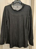 Jockey Women's Knit Pullover Charcoal Gray Sweater Turtle Neck Top Size XL NWT