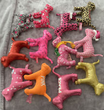 Victoria's Secret Pink Plush Toy Dog Lot Of 12 Collection