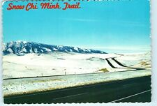 Snow Chi Minh Trail Wyoming Laramie Rawlins I 80 Elk Mountain 4x6 Postcard E06