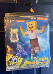 Boys Medium 8-10 Rubies Sponge Bob Square Pants Nickelodeon Halloween Costume