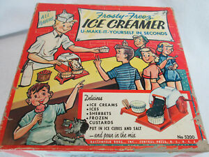 Vintage 1950's Hasbro Frosty-Freez Ice Creamer ice cream maker shop toy