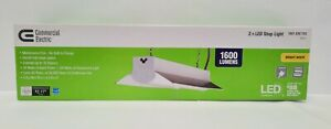 Commercial Electric 2Ft Integrated LED Shop Light 1600 Lumens 18 Watts Linkable