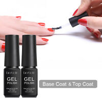 LILYCUTE 7ml Soak Off UV Gellack Matte Top Coat Peel Off Base Coat Nagel Kunst