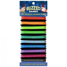 Buzzed Bands Drinking Game EZ Fun Hot Party Bar Bachelor Guys Card Night Novelty