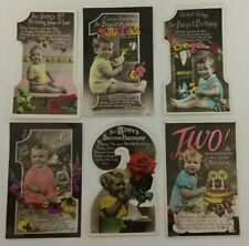 More details for 15 x vintage new baby first birthday congratulations cards & greetings 1930s