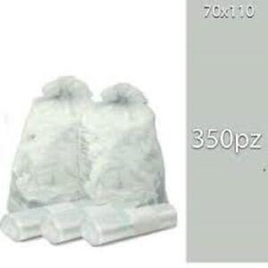 350 Sacchi Differenziata Buste Immondizia 70x110 cm TRASPARENTI Spazzatura