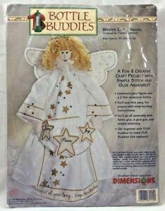 1998 Bottle Buddies Sewing Kit Winter White Angel Christmas Decor Craft 5218F