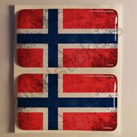 Pegatinas Noruega Pegatina Bandera Manchada Vieja Adhesivo 3D Relieve Resina