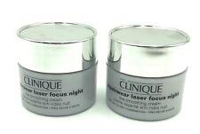 2 x Clinique Repairwear Laser Focus Night Line Smoothing Cream 30ml / 1 oz Total