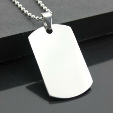 High Quality Soldier Cool Silver Solid Army ID Dog Tag Men Stainless Steel NEW