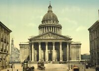 The Pantheon, Paris, 1890's, Vintage French Photography Poster