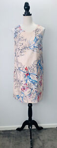 Basque Size 12 Women's Party/Cocktail Casual Shift Dress Multicoloured Floral