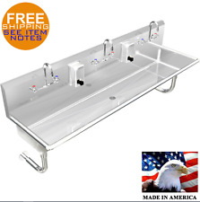 "HAND SINK 3 MULTI USER 72"" WALL MOUNT STAINLESS STEEL"