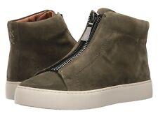NEW Frye Women's Lena Zip High Ankle-High Suede Sneaker Forest Green SZ 9 $258