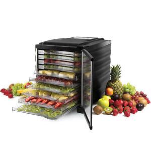 Electric Food Dryer 800W Food Dehydrator Machine with 10 - Layer Plate 360° Heat