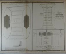 Basire's London Bridge - SOUNDINGS OF THE GREAT ARCH - Copper Engraving -1803