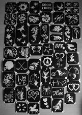 bm2017-setA MIX2 of 50 different stencils plus 6 free glitters glitter tattoo