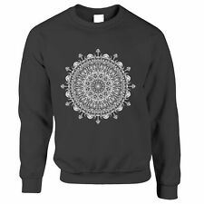 Summer Art Jumper Indian Mandala Pattern Design Floral Drawn Logo