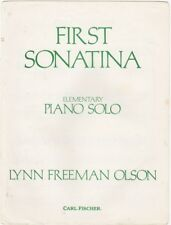 First Sonatina Elementary Piano Solo, for beginners 1972 vintage sheet music