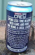 Tooheys New Crew Can Spend Less Time Reading Beer Cans Legend Can Bottom Opened