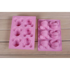 New DIY mickey Mouse Lovely Ice Cookie Cube Tray Cake Mold Silicone Baking Tool