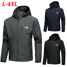 Men's Full Zip Coat Outdoor Mountaineer Hooded Jacket Casual Autumn Soft Shell