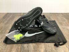 sneakers for cheap e4532 76852 Nike Zoom Rival XC Cross Country Running Spikes 749349 001 Black Silver Sz  10