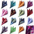 "2018 LOT 15 PCS Men's 100 Silk Handkerchief Floral Hankies Pocket Square 10"""