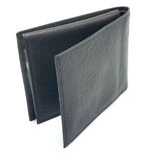"Vintage NOS Buxton Genuine Leather Slim Bifold Wallet,Brown NWT 4 1/8"" x 3 1/4"""