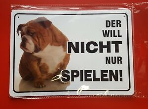 Attention Dog Warning Sign Attention Der Want To Not Only Play