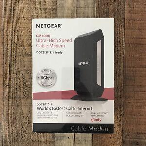 NETGEAR CM1000-100NAS Ultra-High Speed Cable Modem DOCSIS 3.1G new